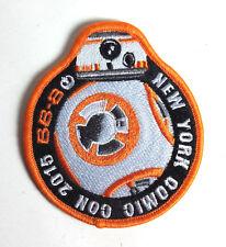 "Star Wars 3.5"" BB-8 New York Comic Com 2015 Promo Patch- FREE S&H (SWPA-KL-13)"