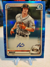 Patrick Bailey RC ~ 2020 Bowman Draft ~ Blue Refractor Auto 74/150 ~ Giants
