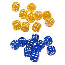 Set Da 20 Dadi Da Gioco A 6 Facce Set Dadi Arrotondati A 2 Colori (blu, Giallo)