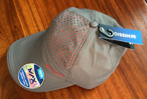NewMISSION Instant Cooling Hat-Unisex Baseball Cap Cools Wet-Charcoal/Teaberry