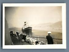 Egypte, Canal de Suez  Vintage silver print. Marine française  Tirage argentiq