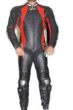Tuta per moto racing da pista in vera pelle intera con gobba 48 50 52 54 56.58