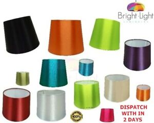 """8"""" 10"""" 12"""" SILKY EMPIRE DRUM SHADES FOR TABLE LAMPS OR CEILING PENDANT FITTINGS"""