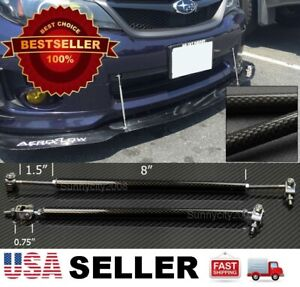 "Carbon 8""-11"" Adjustable Rod Stabilizer For  Nissan Bumper Lip Diffuser splitter"