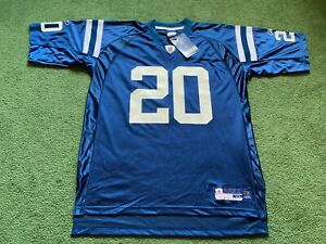 VINTAGE INDIANAPOLIS COLTS MIKE DOSS #20 REEBOK ON FIELD NFL JERSEY NWT