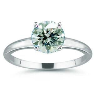 5.05 Ct Vvs1=;Round Near White Ice Moissanite Diamond Solitaire 925 Silver Ring