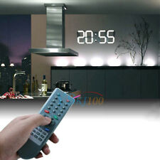 Large Digital LED Wall Clock Alarm Watch 12/24-Hour Date Display Timer w/ Remote