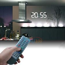 12/24-Hour Huge Digital Wall Clock Alarm LED Watch Date Display Timer w/ Remote