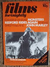 Films Fortnightly 1971 April 3, Godzilla Cover, Science Fiction Portfolio Inside