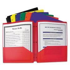 C-line Products Two-pocket Heavyweight Poly Portfolio Folder With Three-hole