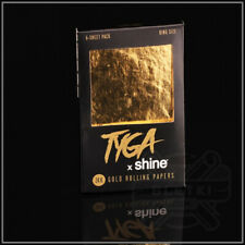 NEW 24K GOLD Rolling Papers / TYGA x shine (6-Sheet Pack King Size)