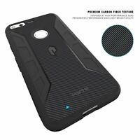 Google Pixel XL Case [Karbon Shield] Black Soft TPU Bumper Shockproof Cover