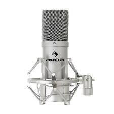 Auna MIC-900S USB Kondensator Mikrofon für Studio-Aufnahmen inkl. Spinne 16mm Kapsel Nierencharakteristik 320Hz - 18KHz silber