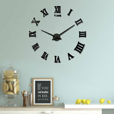 Fashion Large Number Stick-on 3D Art Modern Frameless DIY Wall Clock Home Decor
