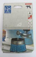LUX TOOLS 103 094 spazzola a nylon a tazza grana 180 x legno metallo muro ø 75mm