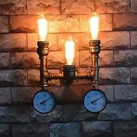 Twin Vintage Industrial Steampunk Retro Water Pipe Wall Light Lamp Loft Fixture