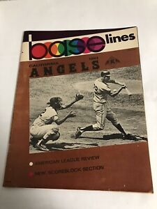 1967 Reggie Jackson First HR Program Kansas City Athletics vs California Angels