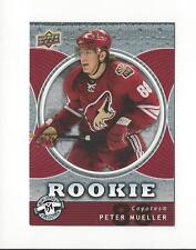 2007-08 UD Mini Jersey Collection #136 Peter Mueller RC Rookie Coyotes