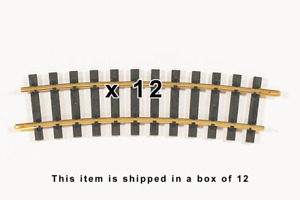 """PIKO 35215 ~ New 2021 ~ R5 1240MM Curve Track 48.8""""R W/ Joiners ~ 12 Pack"""