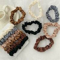 6Pcs Hair Band Scarf Bow Ties Rope Elastic Scrunchies Women Girls Accessories