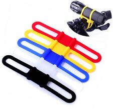Silicon Strap Bike Torch Phone Flashlight Bands Bandage Bicycle Light Holder