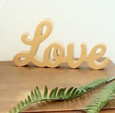 BRAND NEW Large 'Love' Gold Golden Letters Ornament Home Decor Furniture  Gift
