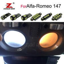 9pc LED door trunk bulb LED interior dome map light for Alfa Romeo 147 2000-2010