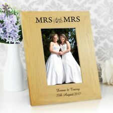 Personalised 6x4 Mrs and Mrs Frame Same Sex Marriage Wedding/Anniversary Gift