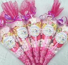 10 X Disney Princess Baby Party Cones Personalised+Free Sweety Bag