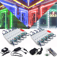 US RGB 60~600LED 5050 SMD 3 LED Module STORE FRONT Window Light Strip Sign Lamp