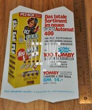 Pez Advertising Tomby Candy Folder with Vending Machine - 1964-65 era Rare