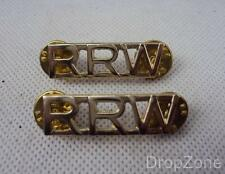 NEW Pair of British Military Royal Regiment of Wales RRW Shoulder Badges