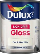 Dulux Non Drip Gloss Paint 750ml Pure Brilliant White
