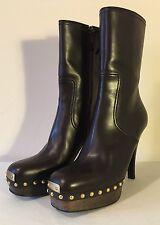 Miu Miu Dark Brown Clog Boots - EU 38 - BNIB