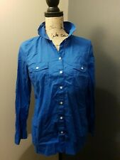 Old Navy Royal Blue Women's Button Down Shirt Size Medium