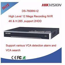 4K 8CH/POE 12MP 2SATA Hikvision DS-7608NI-I2/8P H264+/H265 Network Video Record