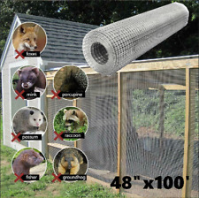 Galvanized Poultry Net Metal Mesh Fencing Chicken Wire Rustic Silver 48''x100'