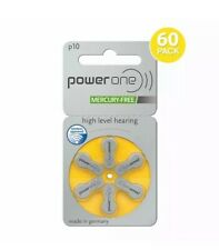 10 X PowerOne P10 Hearing Aid Battery (6 Batteries pack) Free Shipping