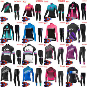 2021 Womens Cycling Jersey Pants Set Bicycle Clothing Bike Outdoor Sportswear