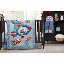 Kids Line Astro Monkey 4-Piece Crib Bedding Set