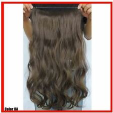 """MED ASH BROWN #8A  HALO STYLE FLIP IN STYLE HAIR EXTENSIONS 20"""" PRINCESS TRESSES"""