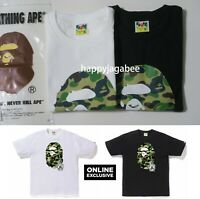 (S-3XL) 2019 A/W A BATHING APE Men's ONLINE EXCLUSIVE BAPE ONLINE TEE 2color New