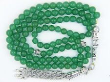 6mm x 99  GREEN AVENTURINE PRAYER BEADS ISLAMIC TASBIH MASBAH QURAN GIFT