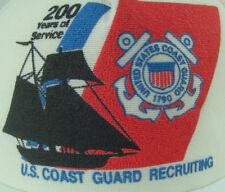 Vtg United States Coast Guard 1790 200 Years Service White Snapback Trucker Hat