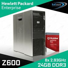 HP Z600 Workstation DUAL Xeon Quad Core X5570 CPU 24GB RAM Quadro Windows 10 PRO