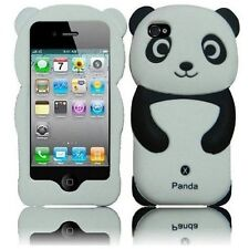 Cute Black and White Panda 3D animal Soft Skin Case Cover for iPhone 4, 4S New