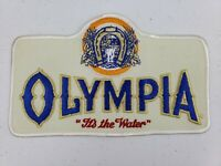 Vintage X LARGE Olympia It's The Water Beer Driver Jacket Uniform Patch Brewery