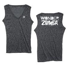 Zumba Wonder Sleeveless V Neck Top (black) Size Small