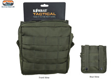 MEDIUM ARMY KOMBAT MOLLE UTILITY POUCH GREEN MILITARY AIRSOFT PAINTBALL