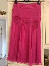 ladies pink silk skirt